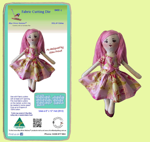 Doll Clothes #1, designed by Sian Froud,- 6400c - includes cutting mat
