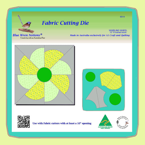 "Whirling Wheel - 10"" finished block - 6514 - Mat and instructions included"