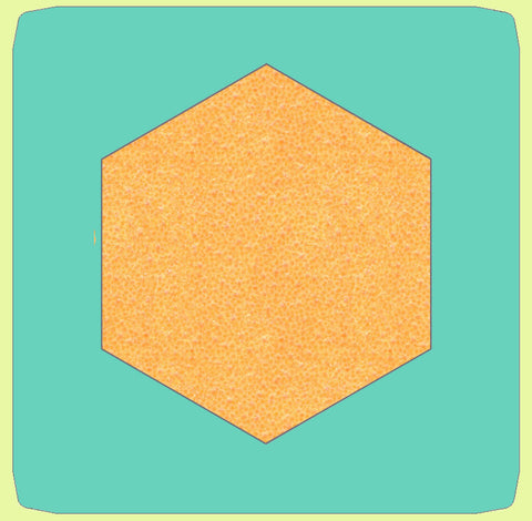 "Hexagons 4"" cut Sides - 6516 with mat included"