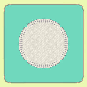 "Rag Circle 6 ½"" diameter (4½"" finished) - 6527 - mat included 10"" x 10"""
