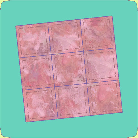 "Square 2"" finished x 9 - 6539 (2 1/2"" cut) Mat Included"