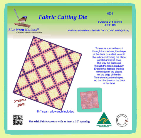 "Squares 2½"" cut (2"" finished) x 9 - 6539 (2 1/2"" cut) Mat Included"