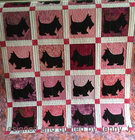 Scottie Dog Large - 6542 Mat included
