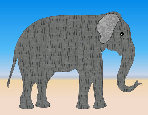 "Elephant, approx 7¼"" x 10"" - 6544 - Mat included"