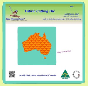 "Australia - Map - Approx 8"" across- 6547 - includes cutting mat"