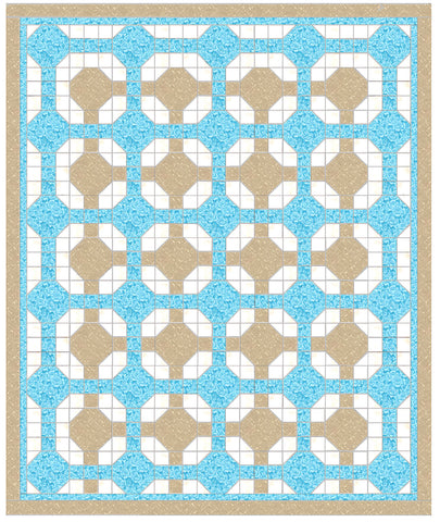 Octagon in Square (Snowball) - 6560 - Mat