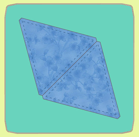 "Triangle, Equilateral - 6"" finished,  - 6566 - Mat (2101) included."