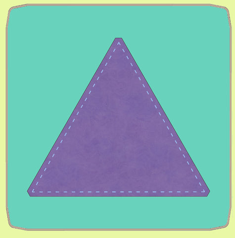 "Equilateral Triangle 8"" finished sides  - 6568 - Mat Included"