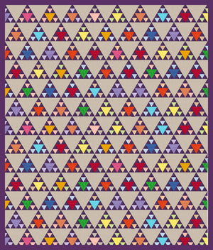 "Triangles, Equilateral 1½"", 3"" and 6"" finished sides  - 6570 - Mat Included"