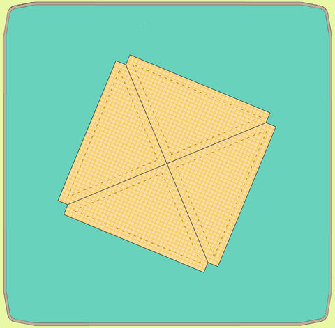 "Quarter Square triangles, 4½"" finished - 6571 - Mat Included"
