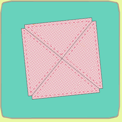 "Quarter Square triangles, 5½"" finished - 6573 - Mat Included"