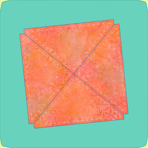 "Triangles, Quarter Square, 6"" finished - 6574 - Mat Included"