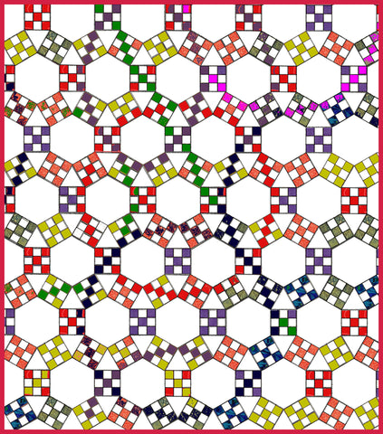 "Hexagons 3"" finished with ¼"" seam allowance included - 6577 - with mat"