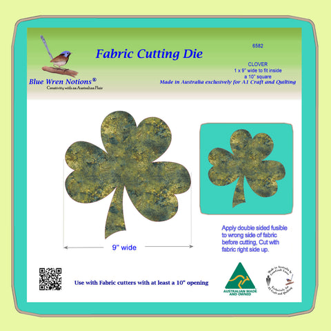 "Clover leaf 9"" across x 1 - 6582 - Mat included"