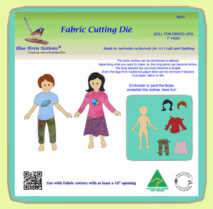 "Doll for Dress-Ups - 7"" high - 6630 - Mat Included"