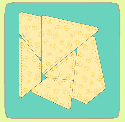 "Tessellating Fish - use ""Piece by Number"" pattern - 6641 - includes cutting mat"