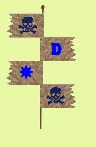 Pirate Flag, Cubby Flag or Party Banner - 6670 - Mat included