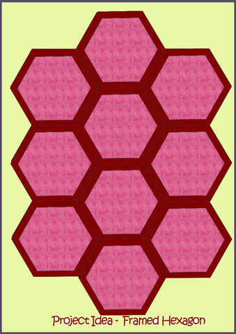 "Hexagons 3"" sides and 4"" sides- (framed hexagons) - 6700 - Mat included"