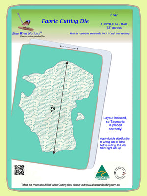 "Australian Map 12"" across - 6747 - Mat included"
