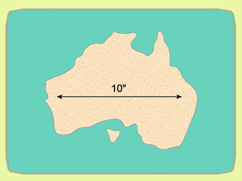 "Australian Map 10"" across - 6748 - Mat included"