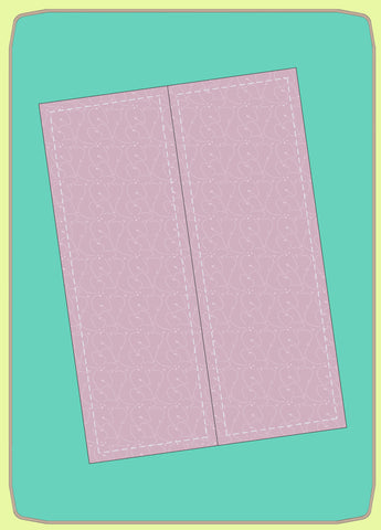 "Rectangles 3¾"" x 10½""cut (3¼""x 10"" finished) two on die - 6763 - Mat (2015) included."