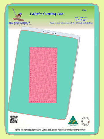 "Rectangle 5"" x 10"" cut, (4½""x 9½"" finished) - 6764 - includes cutting mat"