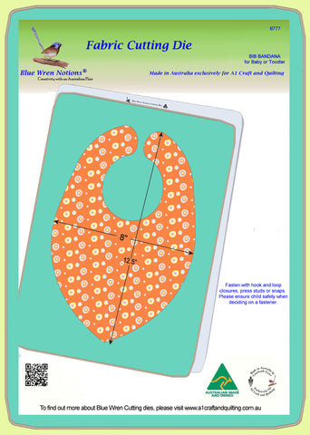 Bib, Bandana Style, for Toddler or Baby - 6777 - Mat included
