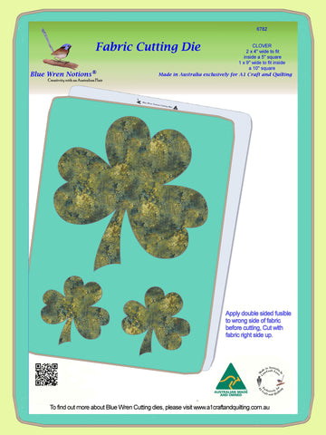 "Clover leaves, 4"" and 9"" across. x 2 - 6782 - Mat included"