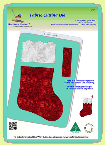 "Christmas Stocking- 8½"" x 13"" finished - 6787 - Mat Included"