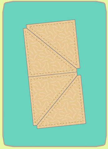 "Triangles, Half Square  4½"" finished block - 6794 - mat included"