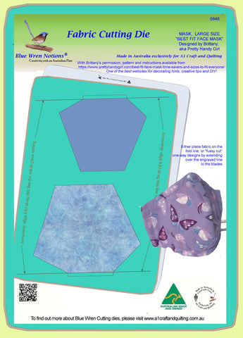 Mask, Large - Best fit Face Mask, made with permission - 6846 - Mat included