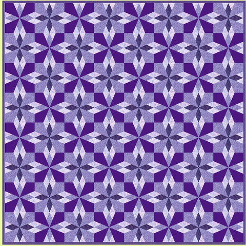 "Hattie's Choice - 6867 - makes a 12"" finished block - Pattern, design layout and mat included"