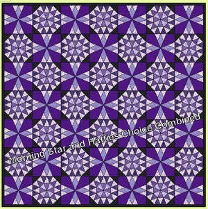 "Hattie's Choice - 6867 - makes a 12"" finished block - Pattern, and mat included"