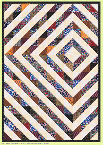 "Triangle, Half Square 4½"" cut, 4"" finished - 6887, for 10"" squares - Mat (2015) included."