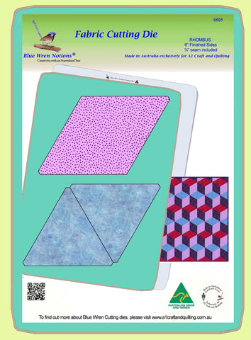 "Rhombus Cube, No Y seam, 6"" finished sides, Tumbling block - 6895 - Mat Included"