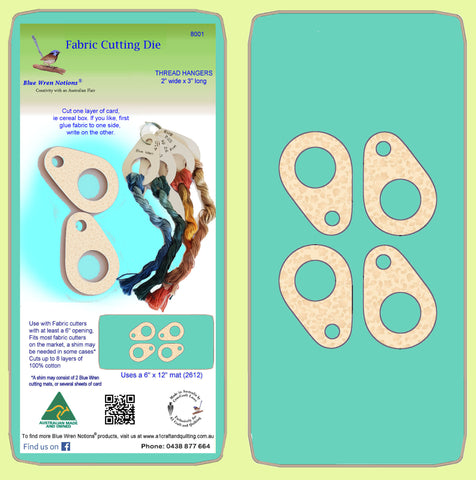 "Thread Hangers, 3"" long, 2"" wide - Paper cutting - 8001 -mat included"
