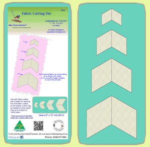 "Diamonds 60 degree, for Paper piecing 1"", 1½"", 2"" & 2½"" cut sides - 8005 - includes cutting mat"