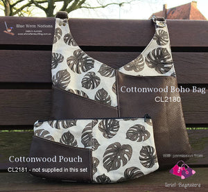 Cottonwood Pouch templates  for Serial Bagmakers - Template 3 piece set - CL2181