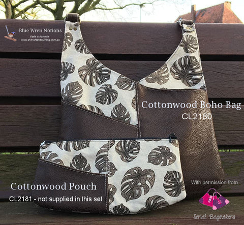 Cottonwood Boho Bag by Serial Bagmakers - Template 9 piece set - CL2180