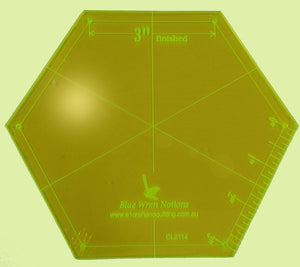 "Hexagon, 3"" sides Template CL2114"
