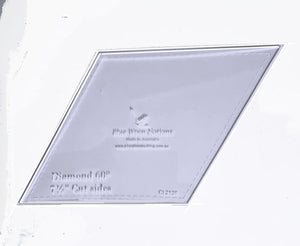 "Diamonds 60 degree, 7½"" cut sides - CL2138"