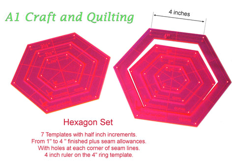 "Hexagon, Nested 1"" to 4"""