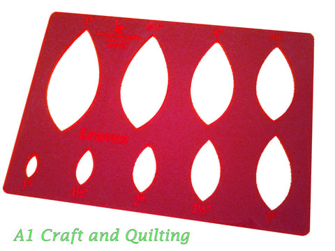 "Leaves Template 1"" to 5"" on sheet CL2131"