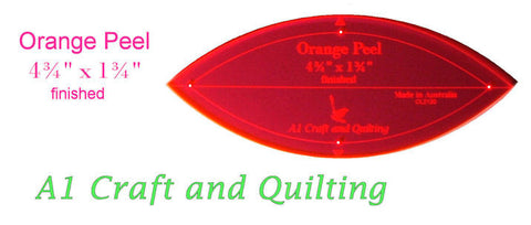 Orange Peel Template A1 Craft And Quilting Australia