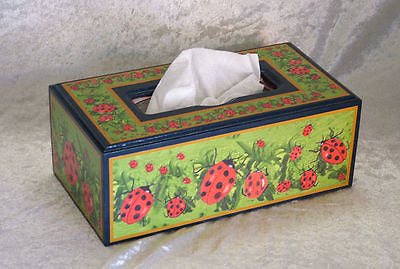 Tissue Box - Decoupaged with Prints -Original Artwork by Norma Bradley