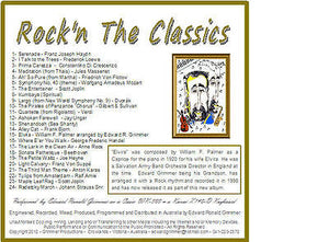 "Instrumental Music - ""Rock'n the Classics"" CD  by Edward R. Grimmer - 24 Songs"