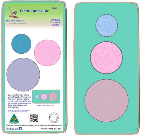 "Circles 2"",3"",4"" Combo  - 6068 - Mat included"