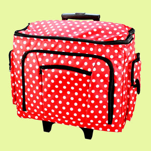 Tote Trolley Bag, Red or Blue Polka dots.