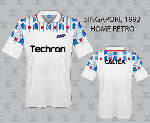 Retro 1992 Singapore Football - Home Jersey