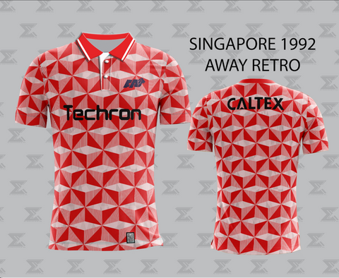 Retro 1992 Singapore Football - Away Jersey